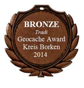 BRONZE (Tradi) - Geocaching Award Kreis Borken 2014