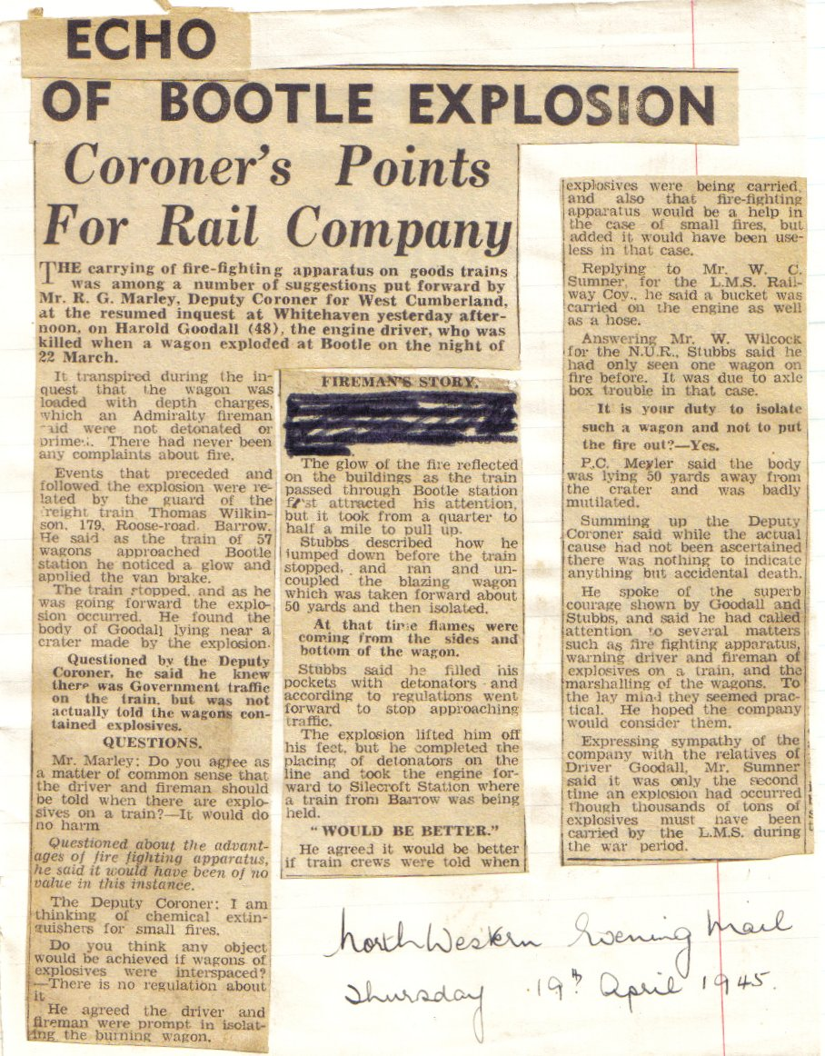 North Western Evening Mail April 1945