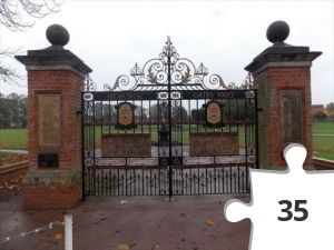 Jigsaw puzzle - memorial gates