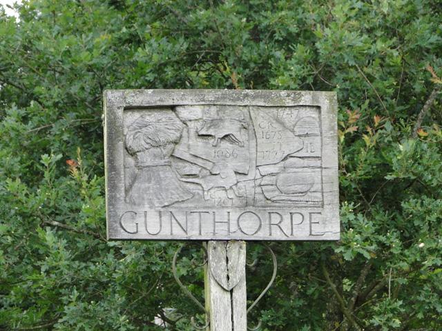 Gunthorpe village sign (detail)