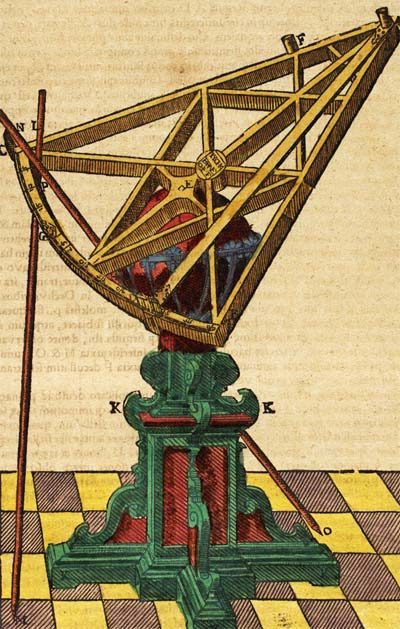 Taqi al-Din invented a framed sextant similar to what Tycho Brahe later used as shown in the picture.