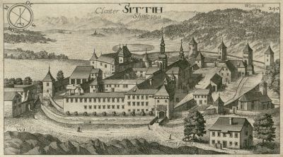 Stična Monastery as depicted by Janez Vajkard Valvasor