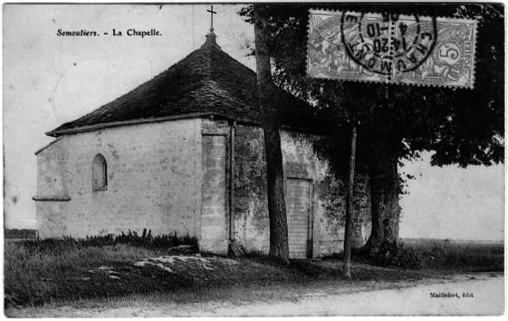 Carte postale de la chapelle en 1905