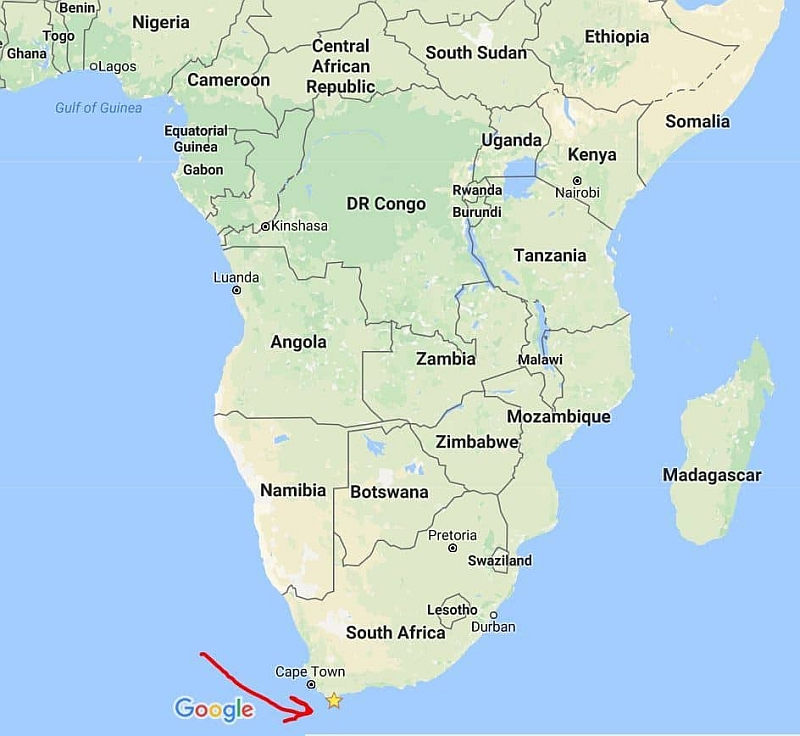 southern tip of africa map Gc890m7 The Southernmost Tip Of Africa Virtual Cache In Western