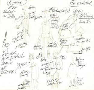 Navrhy kostymu pro hru Lijavec