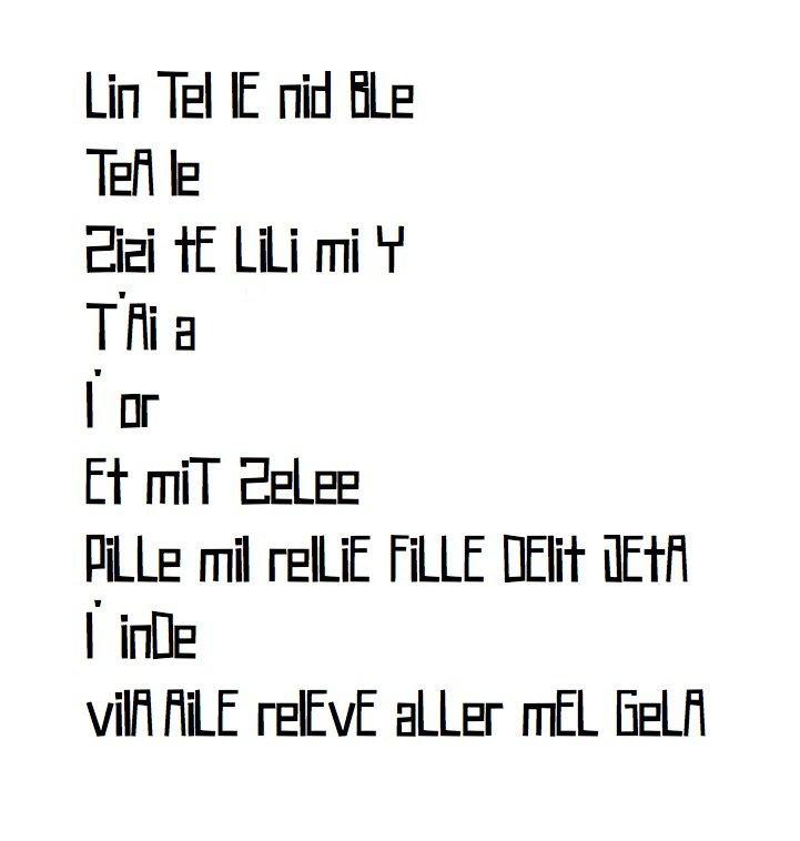 Au pied de la lettre...