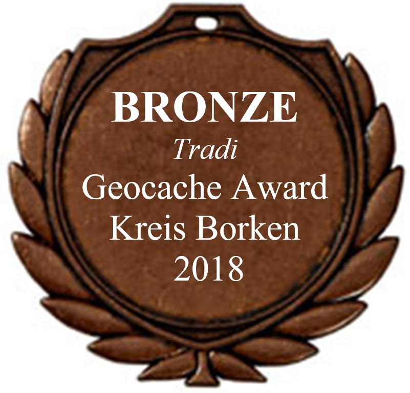 BRONZE (Tradi) - Geocaching Award Kreis Borken 2018