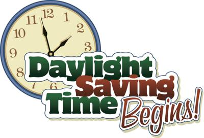 Set clocks forward Sunday at 2 a.m. for Daylight Saving Time
