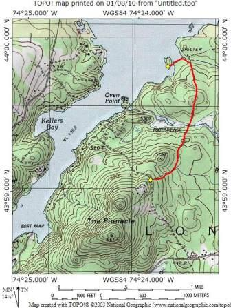 topo map of trail
