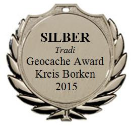 SILBER (Tradi) - Geocaching Award Kreis Borken 2015