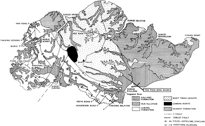 Geological map of Singapore