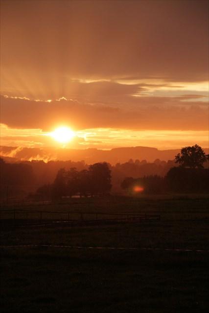 Sonnenuntergang unterwegs