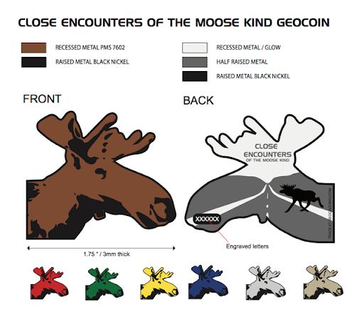 Artwork of the geocoin by Dofferson