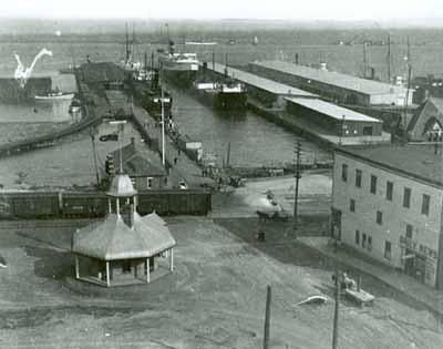 View of tourist pagoda and Port Arthur, circa 1909