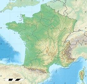 Voir sur la carte topographique de France