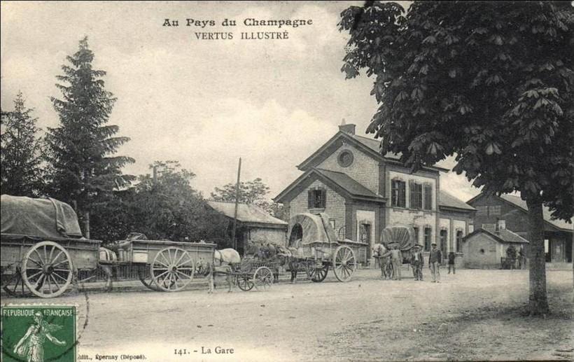 La gare à Vertus