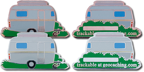 Set of Kiwihead Cache Caravan Geocoin