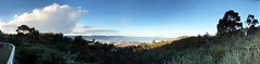 Hobart from Knocklofty Reserve. . .