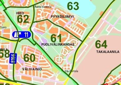 Oulun Kaupunginosat