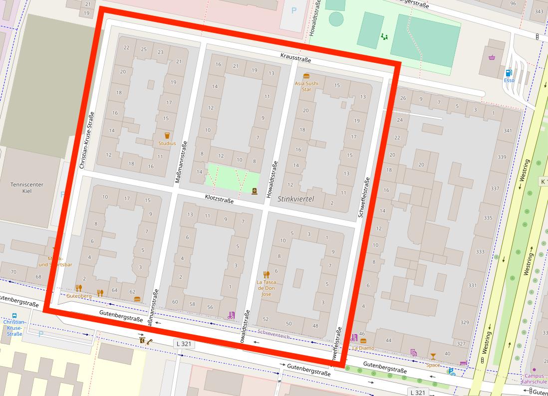 Karte des Stinkviertels