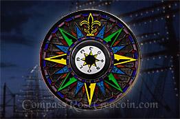 Black Sea Compass Rose 5th Anniversary Geocoin