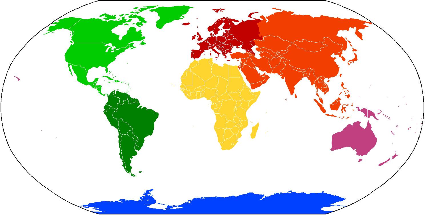 Seven continents (CC BY-SA 3.0)