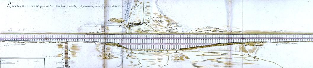 Dessin de l_aqueduc long de 6541 toises