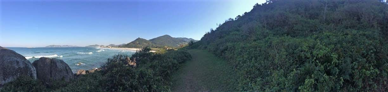 Panorâmica da trilha em direção sul
